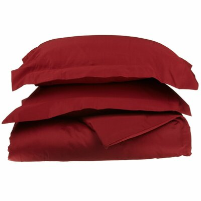 3 Piece Duvet Cover Set Size: Full / Queen, Color: Burgundy