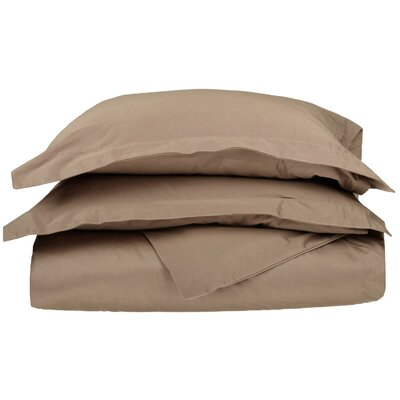3 Piece Duvet Cover Set Size: Full / Queen, Color: Taupe