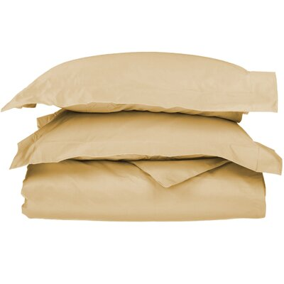 3 Piece Duvet Cover Set Size: King / California King, Color: Gold