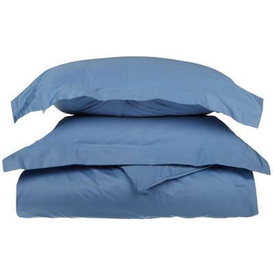 3 Piece Duvet Cover Set Size: King / California King, Color: Medium Blue