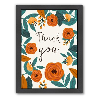Give Thanks Framed Painting Print Size: 12.5