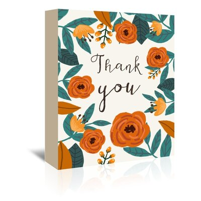Give Thanks Painting Print on Wrapped Canvas Size: 10