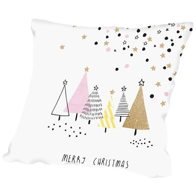 Amflat christmas Throw Pillow Size: 14 H x 14 W x 2 D