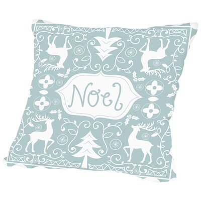 Noel Throw Pillow Size: 18 H x 18 W x 2 D
