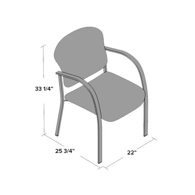 Oleanna Guest Arm Chair Arms: With Arms, Seat Finish: Charcoal, Frame Finish: Silver