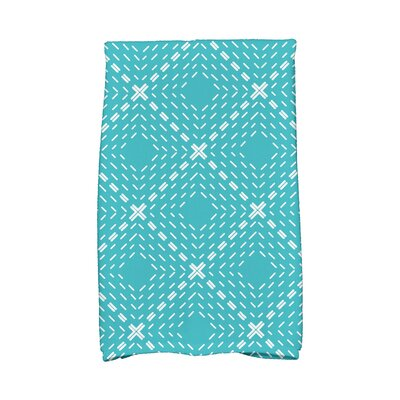 Dots and Dashes Hand Towel Color: Aqua