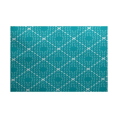 Shirley Blue Indoor/Outdoor Area Rug Rug Size: 4 x 6