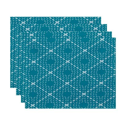 Shirley Dots and Dashes Placemat Color: Blue