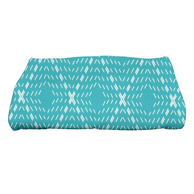 Dots and Dashes Bath Towel Color: Blue
