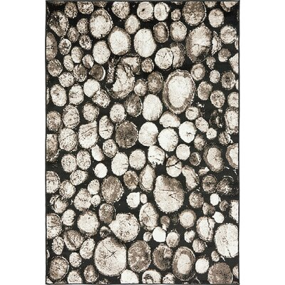 Sidney Black Area Rug Rug Size: Rectangle 4 x 6