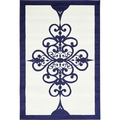 Sidney Ivory Area Rug Rug Size: 4 x 6