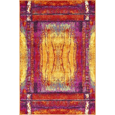 Waltrip Yellow Area Rug Rug Size: 8 x 10