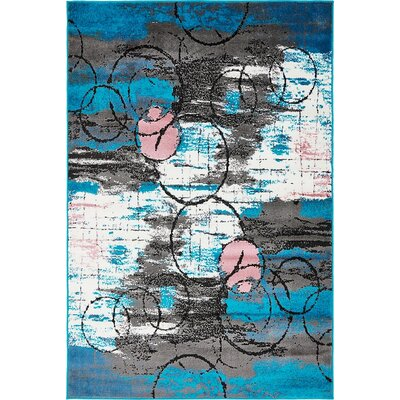 Sidney Turquoise Area Rug Rug Size: Runner 2 x 13