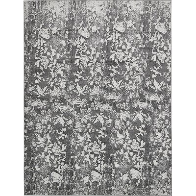 Maryrose Dark Gray Area Rug Rug Size: 5 x 8