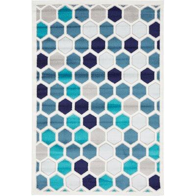 Maryrose Blue Area Rug Rug Size: Runner 2 x 13