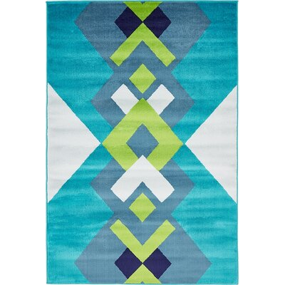 Sidney Turquoise Area Rug Rug Size: Rectangle 8 x 10