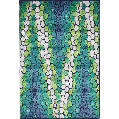 Sidney Light Green Area Rug Rug Size: 5 x 8