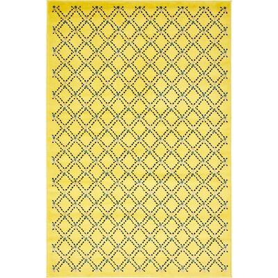 Wanamaker Yellow Area Rug Rug Size: 5 x 8