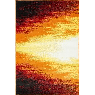 Sidney Orange Area Rug Rug Size: 9 x 12