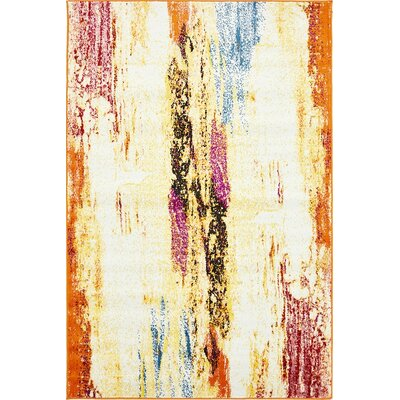 Sidney Cream Area Rug Rug Size: Rectangle 4 x 6