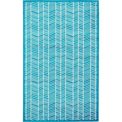 Sidney Turquoise Area Rug Rug Size: 5 x 8