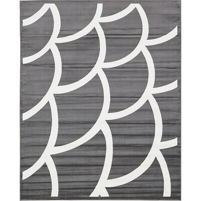 Sidney Gray Area Rug Rug Size: 8 x 10
