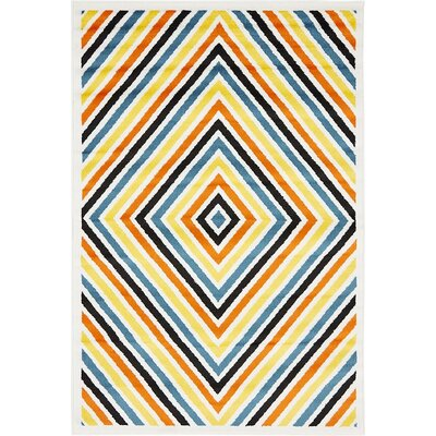 Sidney Yellow / Blue Area Rug