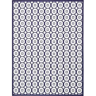 Sidney Navy Blue Area Rug Rug Size: 5 x 8