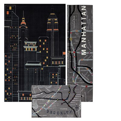 Spada 3 Piece New York City Area Rug Set