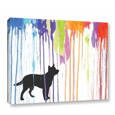 Paint Pup Graphic Art on Wrapped Canvas Size: 14