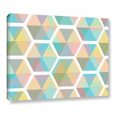 Hive Graphic Art on Wrapped Canvas Size: 14