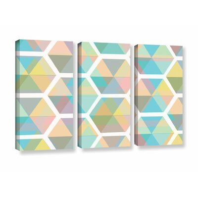 Hive 3 Piece Graphic Art on Wrapped Canvas Set Size: 24