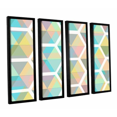 Hive 4 Piece Framed Graphi Art on Canvas Set Size: 24