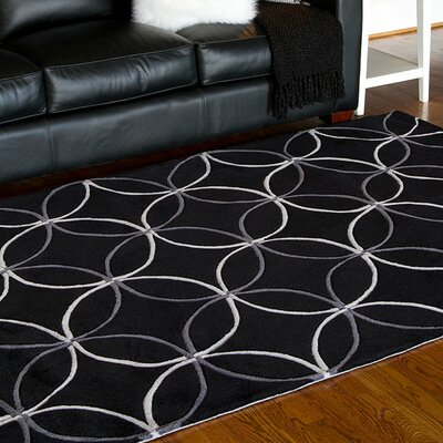 Conroy Black Area Rug Rug Size: Rectangle 36 x 56