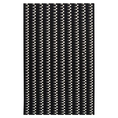 Donley Black Area Rug Rug Size: Rectangle 36 x 56