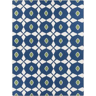 Donley Atlantic Blue/Antique White Geometric Area Rug