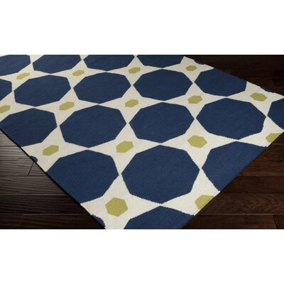 Donley Blue Midnight Geometric Area Rug