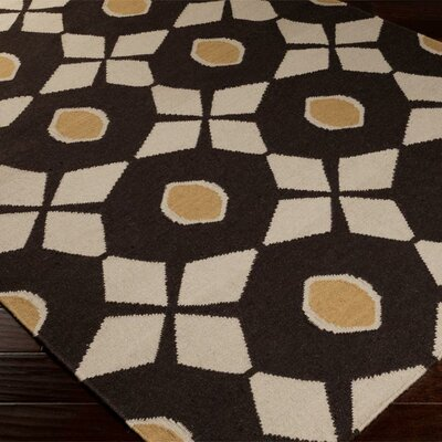 Donley Espresso/Oatmeal Area Rug Rug Size: Rectangle 9 x 13