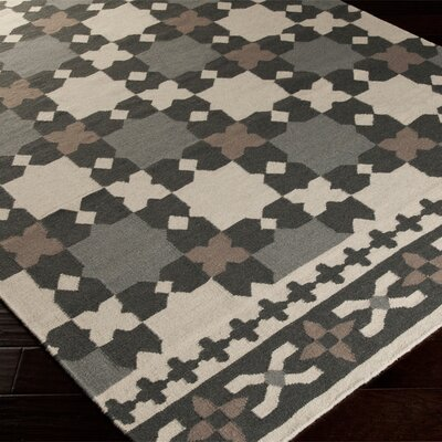 Donley Black & Gray Geometric Area Rug Rug Size: Rectangle 2 x 3