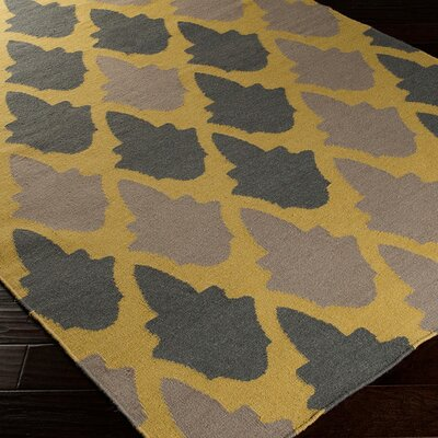 Donley Brown/Tan Geometric Area Rug Rug Size: 36 x 56