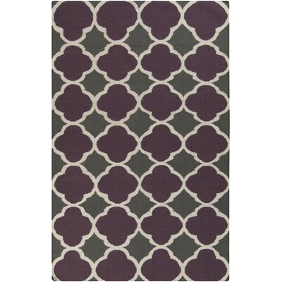 Donley Prune Purple Geometric Area Rug Rug Size: 5 x 8