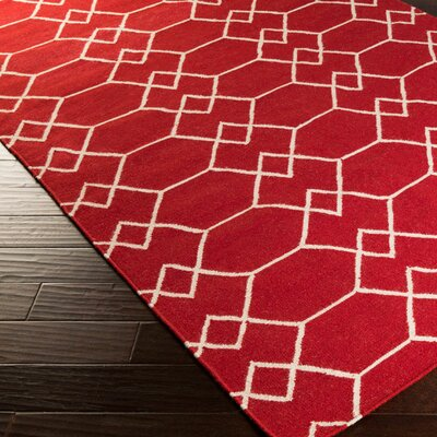 Donley Carnelian Geometric Area Rug Rug Size: Rectangle 36 x 56