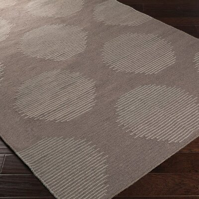 Donley Charcoal Gray Geometric Area Rug Rug Size: Rectangle 36 x 56