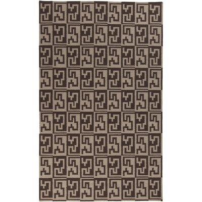 Donley Stone/Dark Brown Geometric Area Rug Rug Size: Runner 26 x 8