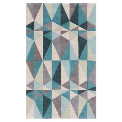 Conroy Teal Blue/Blue Haze Area Rug Rug Size: Rectangle 36 x 56