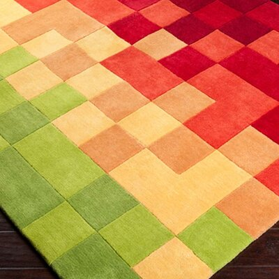 Conroy Peridot/Venetian Red Rug Rug Size: Rectangle 8 x 11