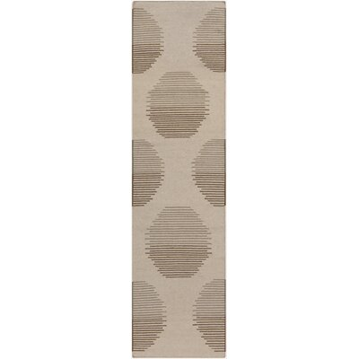 Donley Ivory Geometric Area Rug Rug Size: Rectangle 36 x 56