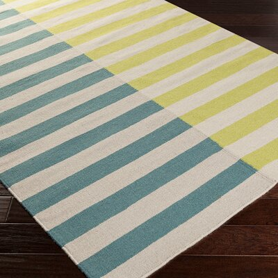 Donley Lime/Teal Area Rug Rug Size: Rectangle 8 x 11