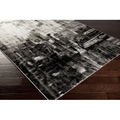 Roma Charcoal Area Rug Rug Size: Rectangle 39 x 52