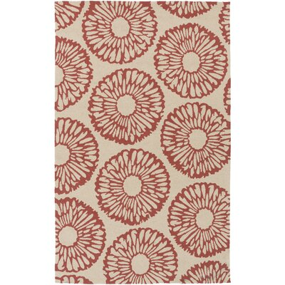 Kinde Ivory/Rust Indoor/Outdoor Area Rug